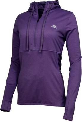 Alpha A A+ Adidas Womens 1/4 Zip Trans Hoodie Pullover