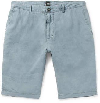 HUGO BOSS Rigan Garment-Dyed Linen Shorts