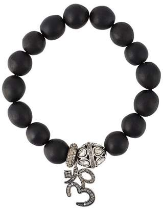 Gemco diamond charm bead bracelet