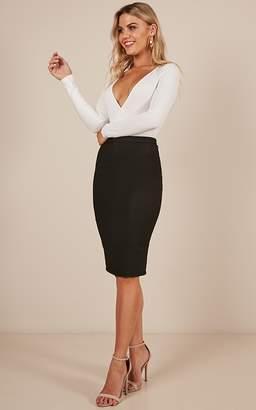 Showpo Claim It Back skirt in black