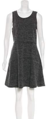 Adrienne Vittadini Sleeveless Mini Dress Grey Sleeveless Mini Dress