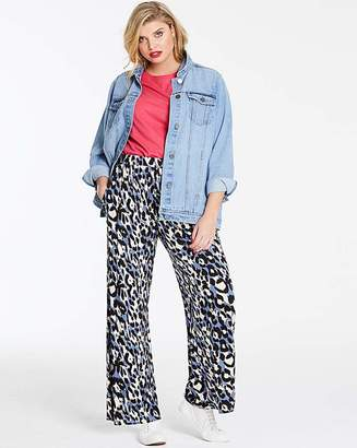 Fashion World Print Wide Leg Jersey Trousers Short