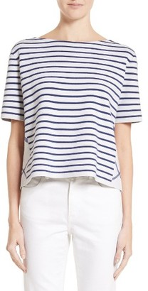 Women's Burberry River Piave Stripe Wool Blend Tee $395 thestylecure.com