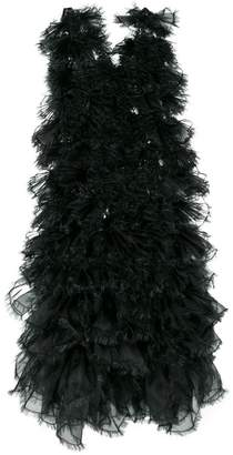 Comme des Garcons raw edge tulle layered dress