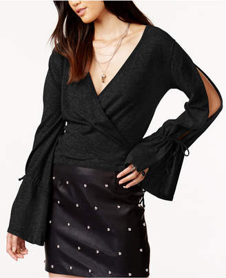 MinkPink Chateau Cotton Wrap Sweater