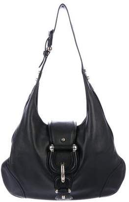 Burberry Hillgate Leather Hobo