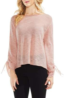 Vince Camuto Tie Sleeve Pointelle Sweater