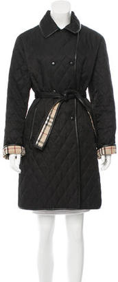 Burberry Leather-Trimmed Quilted Coat $445 thestylecure.com