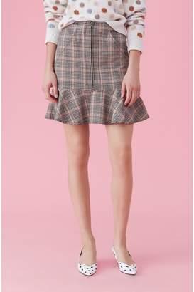 Rebecca Taylor La Vie Plaid Ruffle Skirt