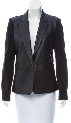MICHAEL Michael Kors Structured Leather-Trimmed Blazer