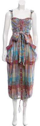 Zac Posen Plaid Maxi Dress w/ Tags
