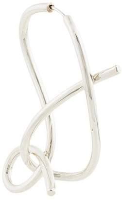 E.m. whirlpool shaped earring