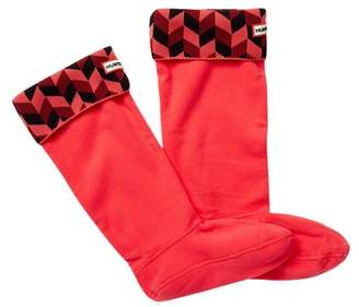 Hunter 'Geometric Dazzle' Original Tall Fleece Welly Socks