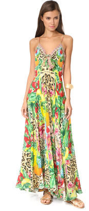 Camilla Cool Cat Long Dress with Tie Front $650 thestylecure.com