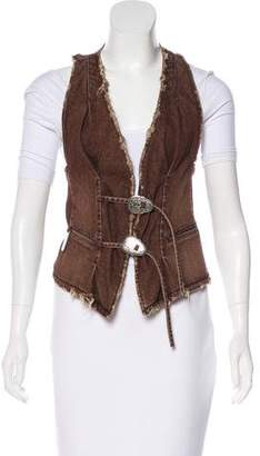 Thomas Wylde Distressed Denim Vest
