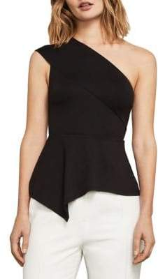 BCBGMAXAZRIA Gena Asymmetrical One-Shoulder Top