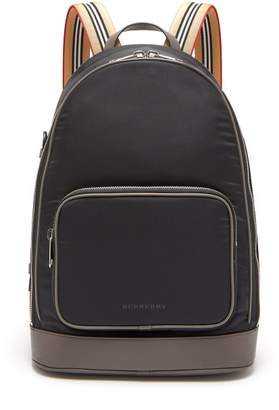 Burberry Rocco Cay Nylon Backpack - Mens - Black