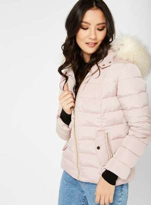 Miss Selfridge Petite quilted puffer jacket