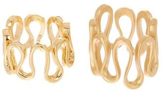 Trina Turk Wavy Ring Set - Size 7 & 8