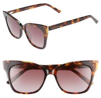 Ted Baker 53mm Square Cat Eye Sunglasses