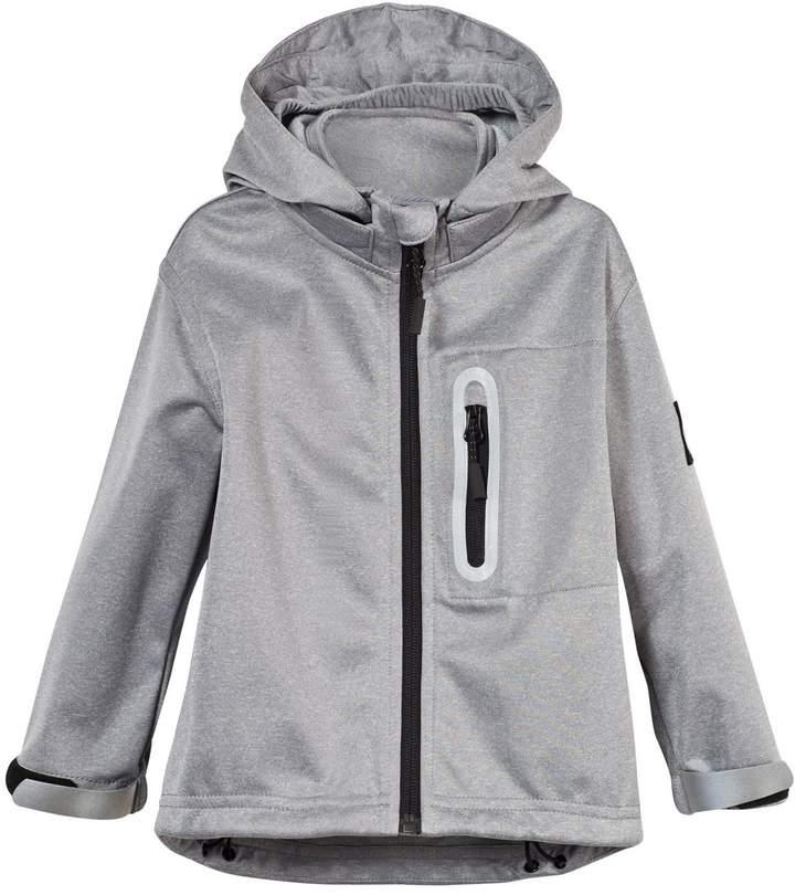 Grey Melange Cloudy Soft Shell Jacket