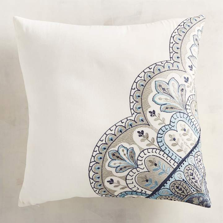 Morales Blue Decorative Square Pillow