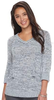 Sonoma Goods For Life Women's SONOMA Goods for Life Pointelle V-Neck Sweater