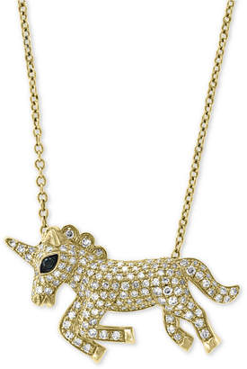 "Effy Diamond Unicorn 18"" Pendant Necklace (1/2 ct. t.w.) in 14k Gold"