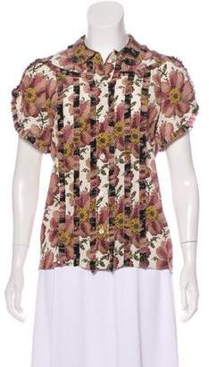 Gucci Pixelated Floral Top