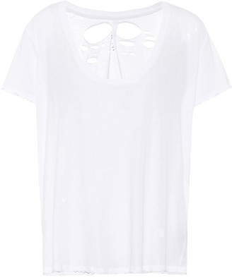 Unravel Distressed cotton T-shirt