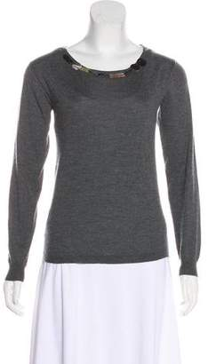 Marni Cashmere & Silk-Blend Embellished Sweater