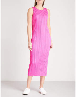 Pleats Please Issey Miyake Sleeveless pleated midi dress