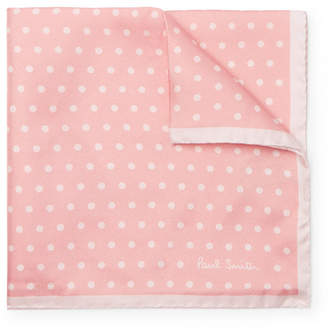 Paul Smith Polka-Dot Silk-Twill Pocket Square