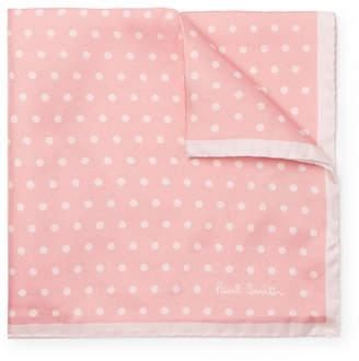 Paul Smith Polka-Dot Silk-Twill Pocket Square - Pink