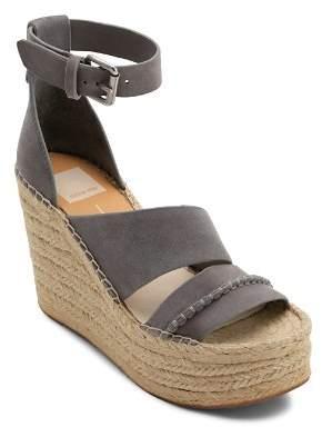 Dolce Vita Women's Simi Suede Espadrille Wedge Sandals