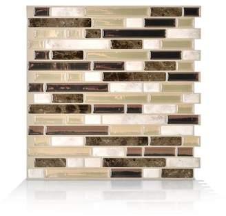 BEIGE Smart Tiles Mosaik Bellagio Bello 10.06 x 10 Peel & Stick Wall Tile in Brown &