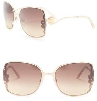 Roberto Cavalli 61mm Metal Square Sunglasses