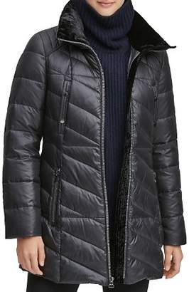 Andrew Marc Shirley Hooded Faux Fur Trim Parka