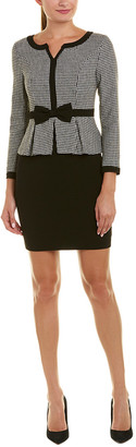 V&A Vogue Va Wool-Blend Sheath Dress