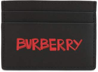 Burberry Graffiti Smooth Leather Card Holder