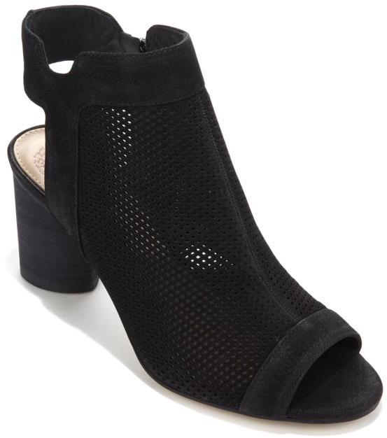 Vince Camuto Jakayla Perforated Suede Peep-Toe Shootie