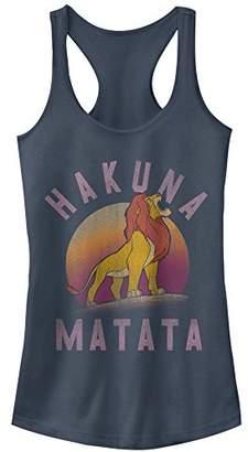 Fifth Sun Women's Lion King Hakuna Matata Warrior Graphic Racerback Tank Top