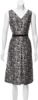 Michael Kors Jacquard Paisley Dress