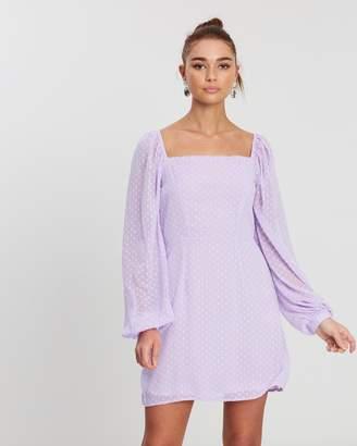 Missguided Dobby Milkmaid LS A-Line Dress