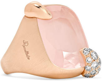 Ritratto 18-karat Rose Gold, Quartz And Diamond Ring