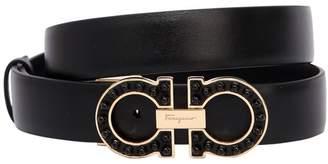Salvatore Ferragamo 25mm Gancio Smooth Leather Belt