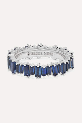 Suzanne Kalan 18-karat White Gold Sapphire Ring