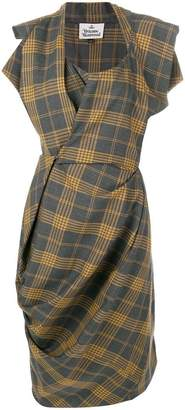 Vivienne Westwood plaid asymmetric dress