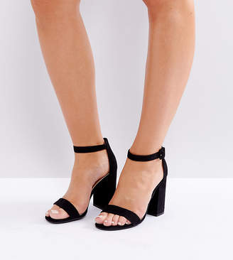 New Look Barely There Block Heeled Sandal