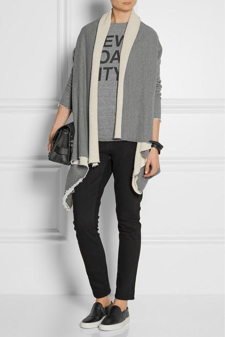 OAK Cotton-blend jersey cardigan